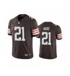Cleveland Browns #21 Denzel Ward Brown 2020 Vapor Limited Jersey