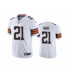Cleveland Browns #21 Denzel Ward White 2020 Vapor Limited Jersey