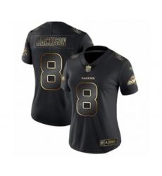 Women's Baltimore Ravens #8 Lamar Jackson Black Gold Vapor Untouchable Limited Player Football Jersey