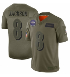 Youth Baltimore Ravens #8 Lamar Jackson Limited Camo 2019 Salute to Service Football Jersey
