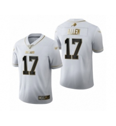 Men's Buffalo Bills #17 Josh Allen Limited White Golden Edition Football Jersey