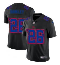 Men's New York Giants #26 Saquon Barkley Black Nike Black Shadow Edition Limited Jersey