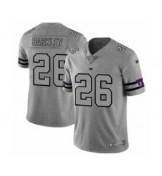Men's New York Giants #26 Saquon Barkley Limited Gray Team Logo Gridiron Football Jersey