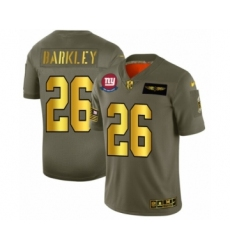 Men's New York Giants #26 Saquon Barkley Limited Olive Gold 2019 Salute to Service Football Jersey