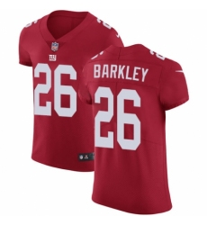 Men's Nike New York Giants #26 Saquon Barkley Red Alternate Vapor Untouchable Elite Player NFL Jersey