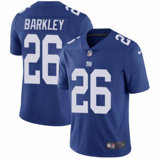 Men's Nike New York Giants #26 Saquon Barkley Royal Blue Team Color Vapor Untouchable Limited Player NFL Jersey