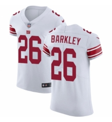 Men's Nike New York Giants #26 Saquon Barkley White Vapor Untouchable Elite Player NFL Jersey