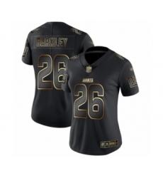 Women's New York Giants #26 Saquon Barkley Black Gold Vapor Untouchable Limited Football Jersey