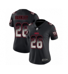 Women's New York Giants #26 Saquon Barkley Limited Black Smoke Fashion Football Jersey