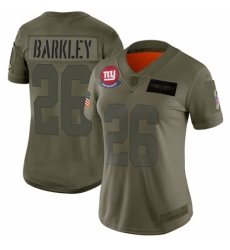 Women's New York Giants #26 Saquon Barkley Limited Camo 2019 Salute to Service Football Jersey