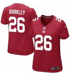 Women's Nike New York Giants #26 Saquon Barkley Game Red Alternate NFL Jersey