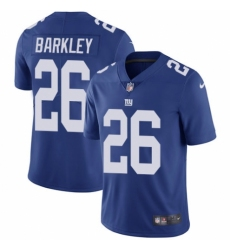 Youth Nike New York Giants #26 Saquon Barkley Royal Blue Team Color Vapor Untouchable Elite Player NFL Jersey