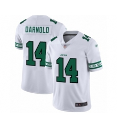 Men's New York Jets #14 Sam Darnold Limited White Team Logo Fashion Football Jersey