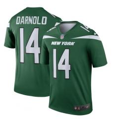 Men's New York Jets #14 Sam Darnold Nike Green Legend Player Jersey