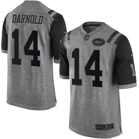 Men s Nike New York Jets  14 Sam Darnold Limited Gray Gridiron NFL Jersey e1a37bce1