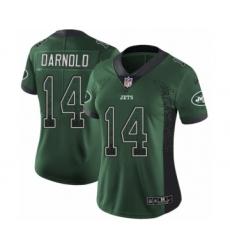 Women's Nike New York Jets #14 Sam Darnold Limited Green Rush Drift Fashion NFL Jersey