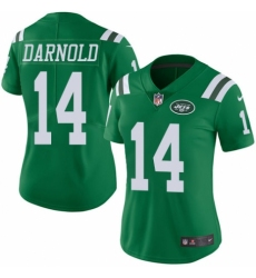 Women's Nike New York Jets #14 Sam Darnold Limited Green Rush Vapor Untouchable NFL Jersey