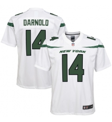 Youth  New York Jets  #14 Sam Darnold Nike Game Jersey - White (2)