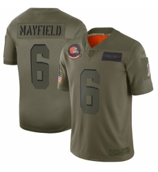 Men's Cleveland Browns #6 Baker Mayfield Limited Camo 2019 Salute to Service Football Jersey