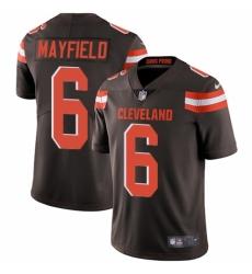 Men's Nike Cleveland Browns #6 Baker Mayfield Brown Team Color Vapor Untouchable Limited Player NFL Jersey