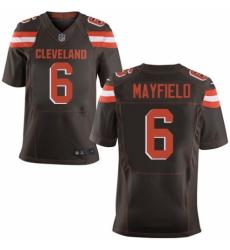 Men's Nike Cleveland Browns #6 Baker Mayfield Elite Brown Team Color NFL Jersey