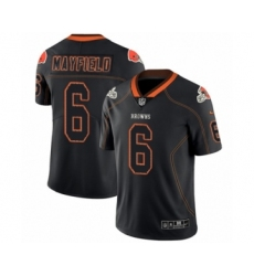 Men's Nike Cleveland Browns #6 Baker Mayfield Limited Lights Out Black Rush NFL Jersey