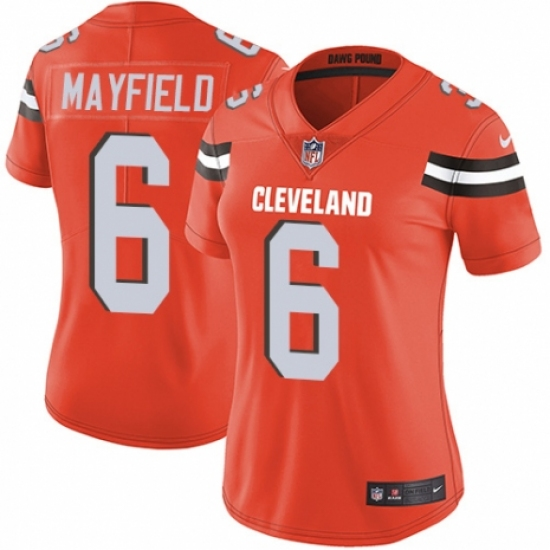 Women s Nike Cleveland Browns  6 Baker Mayfield Orange Alternate Vapor  Untouchable Limited Player NFL Jersey 1c500d5f3