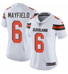 Women's Nike Cleveland Browns #6 Baker Mayfield White Vapor Untouchable Elite Player NFL Jersey