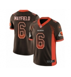 Youth Nike Cleveland Browns #6 Baker Mayfield Limited Brown Rush Drift Fashion NFL Jersey