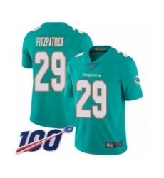 Youth Nike Miami Dolphins #29 Minkah Fitzpatrick Aqua Green Team Color Vapor Untouchable Limited Player 100th Season NFL Jersey
