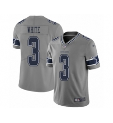 Youth Dallas Cowboys #3 Mike White Limited Gray Inverted Legend Football Jersey