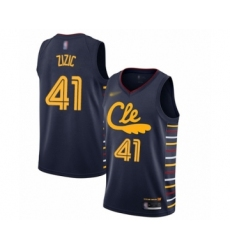 Men's Cleveland Cavaliers #41 Ante Zizic Swingman Navy Basketball Jersey - 2019 20 City Edition