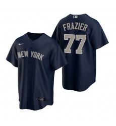 Men's Nike New York Yankees #77 Clint Frazier Navy Alternate Stitched Baseball Jersey