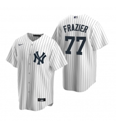 Men's Nike New York Yankees #77 Clint Frazier White Home Stitched Baseball Jersey