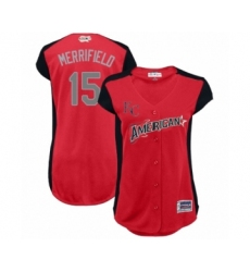 Women's Kansas City Royals #15 Whit Merrifield Authentic Red American League 2019 Baseball All-Star Jersey