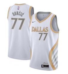 Men's Dallas Mavericks #77 Luka Doncic Nike White 2020-21 Swingman Player Jersey