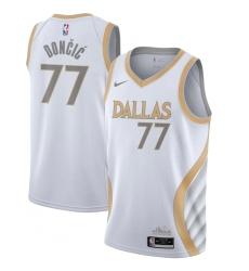 Youth Dallas Mavericks #77 Luka Doncic Nike White 2020-21 Swingman Jersey