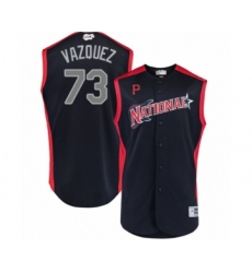 Youth Pittsburgh Pirates #73 Felipe Vazquez Authentic Navy Blue National League 2019 Baseball All-Star Jersey