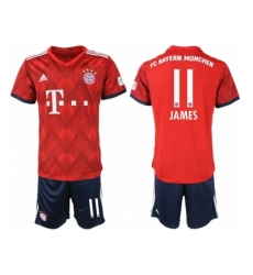 2018-2019 Bayern Munich home 11 Club Soccer Jersey