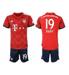 2018-2019 Bayern Munich home 19 Club Soccer Jersey