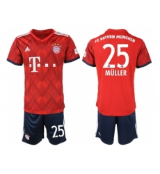 2018-2019 Bayern Munich home 25 Club Soccer Jers