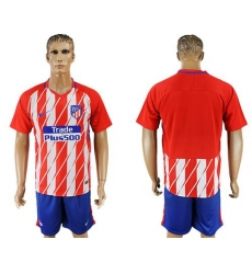 Atletico Madrid Blank Home Soccer Club Jersey5