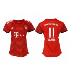 2018-2019 Women Bayern Munich home aaa version 11 Club Soccer Jersey