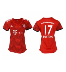 2018-2019 Women Bayern Munich home aaa version 17 Club Soccer Jersey