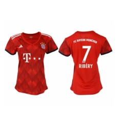 2018-2019 Women Bayern Munich home aaa version 7 Club Soccer Jersey