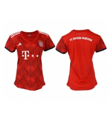 2018-2019 Women Bayern Munich home aaa version blank Club Soccer Jersey