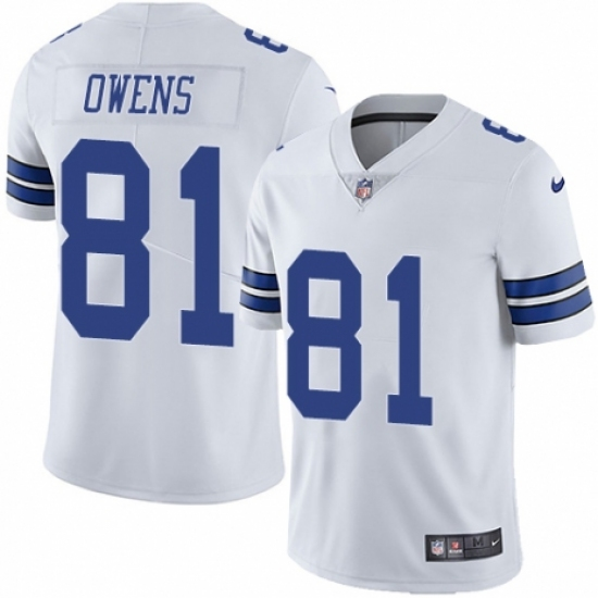 newest 4c819 a736a Youth Nike Dallas Cowboys #81 Terrell Owens White Vapor ...