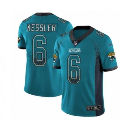 8fe09f0d2 Men s Nike Jacksonville Jaguars  6 Cody Kessler Limited Teal Green Rush  Drift Fashion NFL Jersey