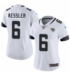 68ed4b449 Women s Nike Jacksonville Jaguars  6 Cody Kessler White Vapor Untouchable  Elite Player NFL Jersey