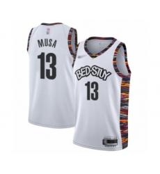 Men's Brooklyn Nets #13 Dzanan Musa Swingman White Basketball Jersey - 2019 20 City Edition